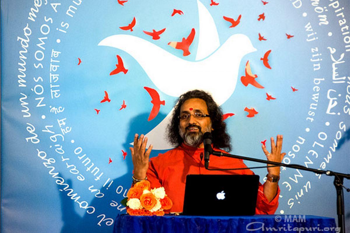 Swami Amritaswarupananda Puri in Deutschland