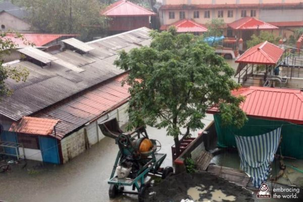 Überflutung des Amrita Hospitals in Kerala