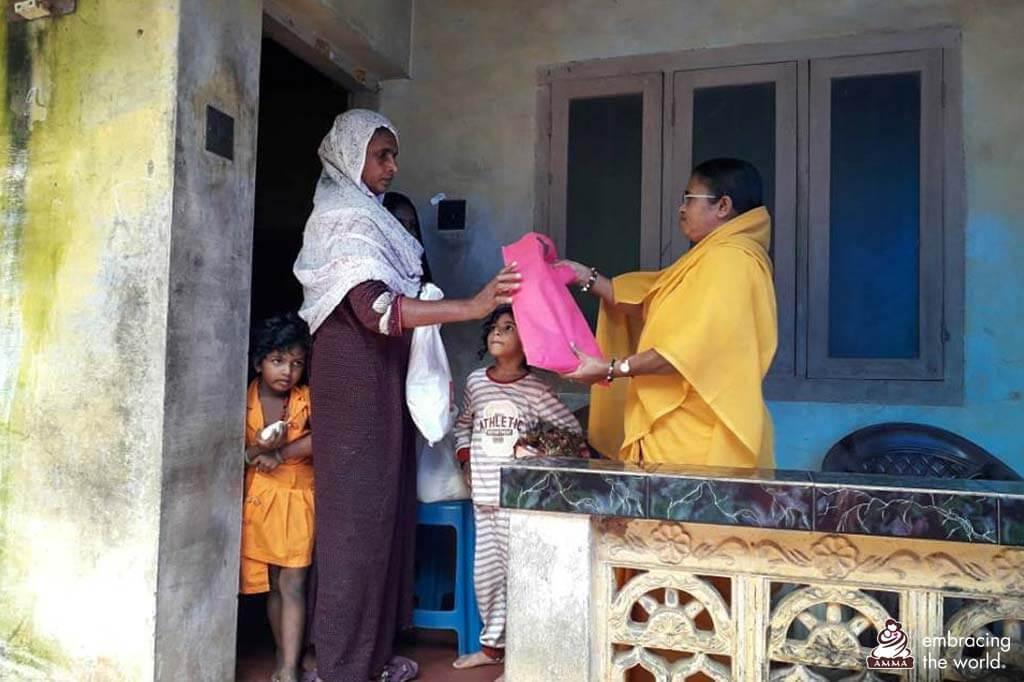 Verteilung von benötigtem Zubehör für die Häuser von Menschen.