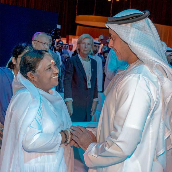 Amma und Saif Bin Zayed, der stellvertretende Premierminister der Vereinigten Arabischen Emirate.